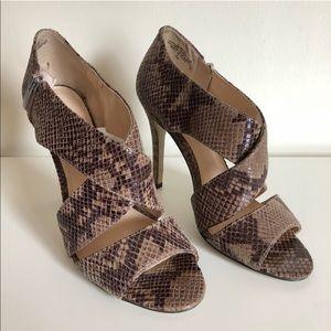 Enzo Angiolini Eametz Strap Snakeskin Leather Heel